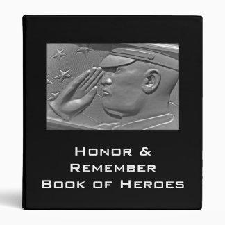 Carpeta militar del álbum del héroe del veterano