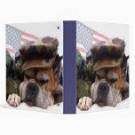 Carpeta militar del perro del boxeador