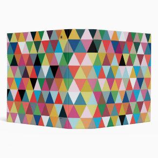 Carpeta modelada caleidoscopio geométrico colorido