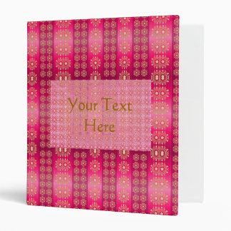 Carpeta modelada rosa de Boho