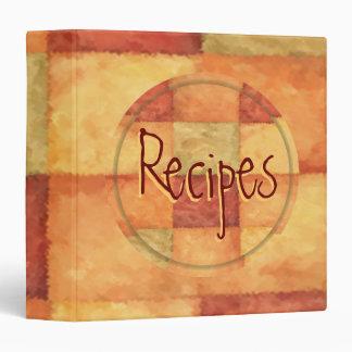Carpeta multicolora de la receta