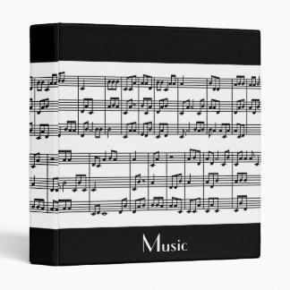 Carpeta musical del diseño