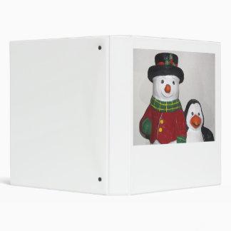 Carpeta muy linda del muñeco de nieve y del amigo