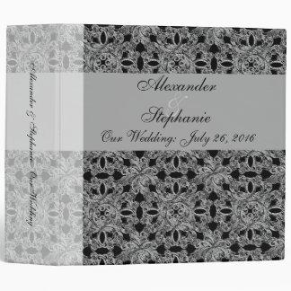 Carpeta negra/blanca de la foto del planificador
