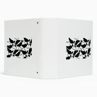 Carpeta negra del modelo del pájaro