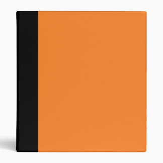 Carpeta negra y anaranjada