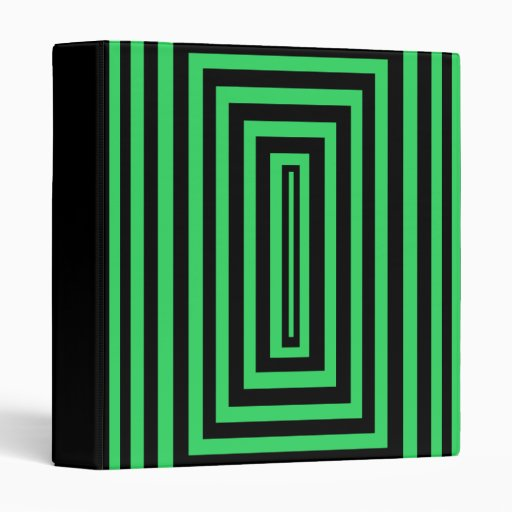 carpeta negra y verde del rectángulo