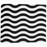 Carpeta ondulada blanco y negro de las rayas