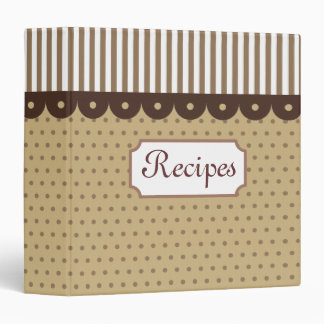 Carpeta pasada de moda de la receta