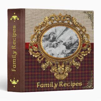 ¡Carpeta pasada de moda de la receta de la familia