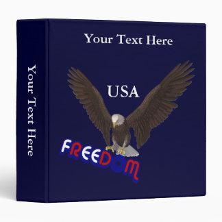 Carpeta patriótica de Eagle los E.E.U.U. de la lib
