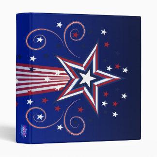 Carpeta patriótica de los fuegos artificiales