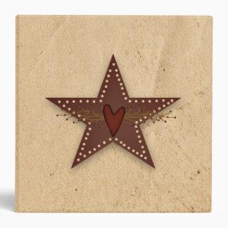 Carpeta perforada de la estrella de la lata