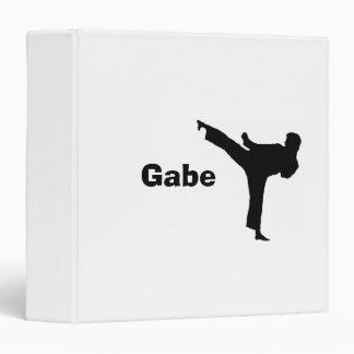 """Carpeta personalizada 3-Ring del """"karate"""""""