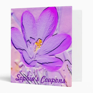Carpeta personalizada azafrán púrpura grabada en