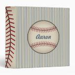 Carpeta personalizada azul del béisbol