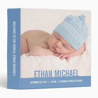 Carpeta personalizada bebé agradable - azul