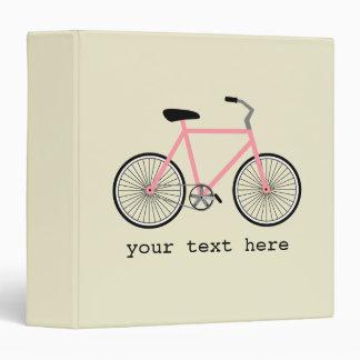 Carpeta personalizada bicicleta rosada