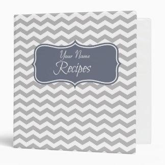 Carpeta personalizada Chevron azul de la receta