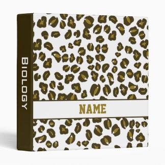 Carpeta personalizada de la escuela del guepardo