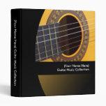 Carpeta personalizada de la música de la guitarra