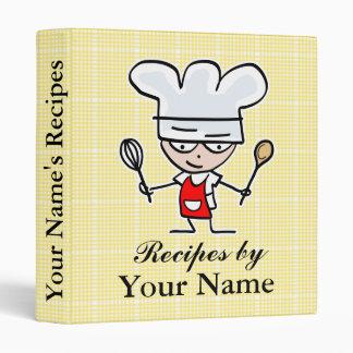 Carpeta personalizada de la receta con el dibujo a