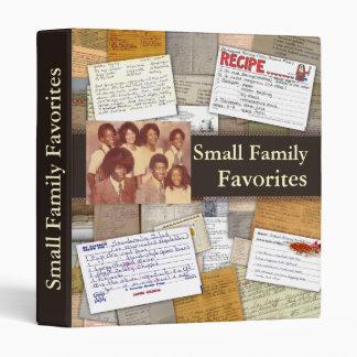 Carpeta personalizada de la receta de la familia