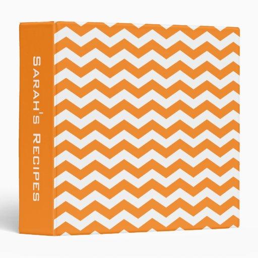 Carpeta personalizada de la receta de OrangeChevro