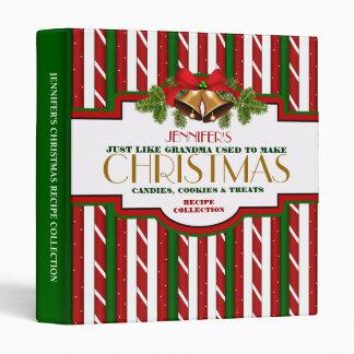 Carpeta personalizada de la receta del navidad