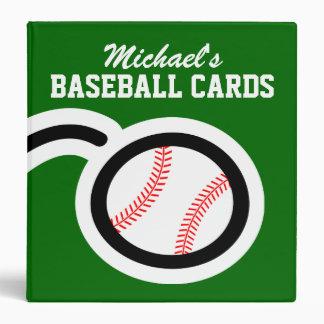 Carpeta personalizada de la tarjeta de béisbol par
