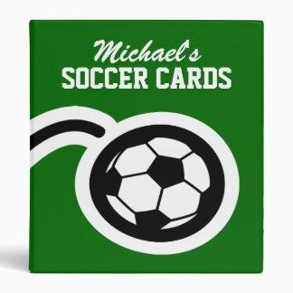 Carpeta personalizada de la tarjeta del fútbol par