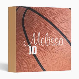 Carpeta personalizada del baloncesto