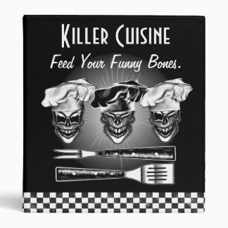 Carpeta personalizada del cocinero del cráneo