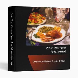 Carpeta personalizada del diario de la dieta/de la