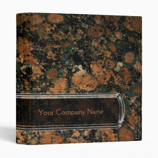 Carpeta personalizada del granito
