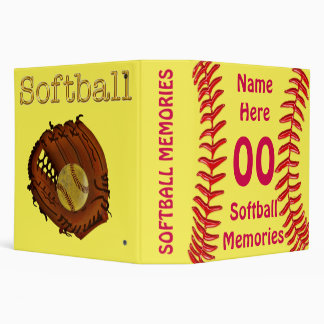 Carpeta personalizada del softball para las