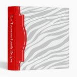Carpeta personalizada rojo descolorada de la recet