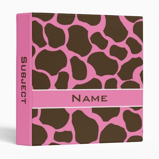 Carpeta personalizada rosa de la escuela del