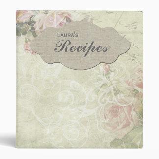 Carpeta personalizada rosa de la receta del estilo