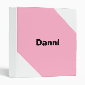 Carpeta personalizada rosa del chicle