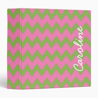 Carpeta personalizada rosada y verde de muy buen