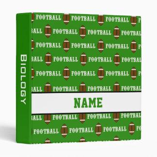 Carpeta personalizada verde del fútbol de la
