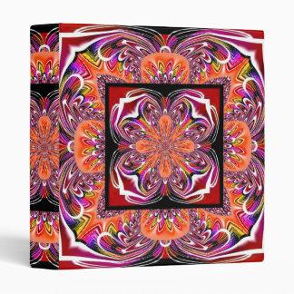 Carpeta pintada Tole anaranjada roja del fractal