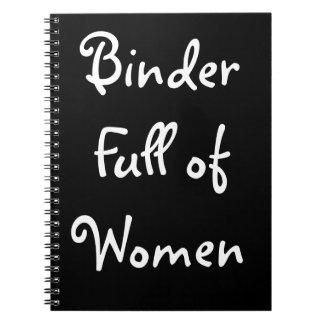 Carpeta por completo del cuaderno de las mujeres