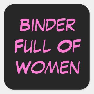 Carpeta por completo del pegatina de las mujeres