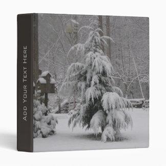 Carpeta preciosa de la escena del invierno