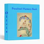 Carpeta preescolar hermosa del libro de la memoria