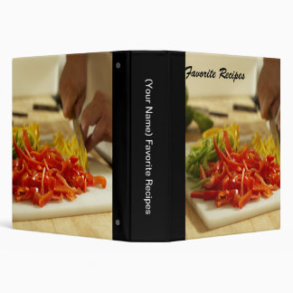 Carpeta preferida del libro de cocina de las recet
