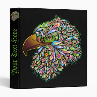 Carpeta psicodélica del diseño del halcón de Eagle
