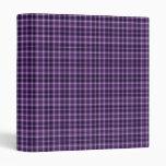 """Carpeta púrpura 1"""" de la tela escocesa"""